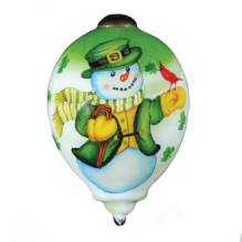 Irish Snowman Ornament