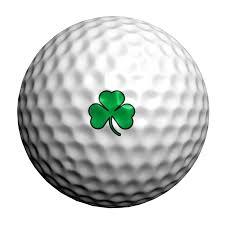 golf ball with shamrock